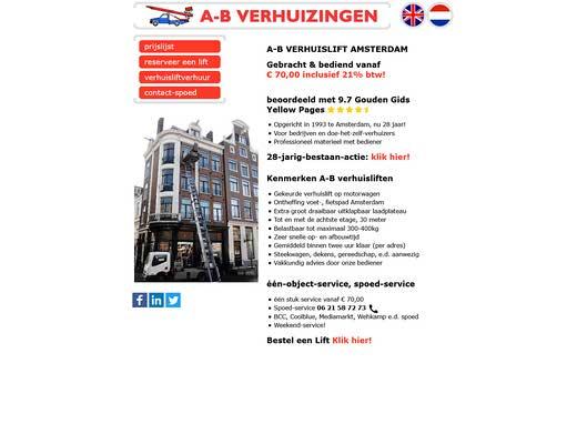 A-B Verhuislift verhuur Amsterdam Spoed