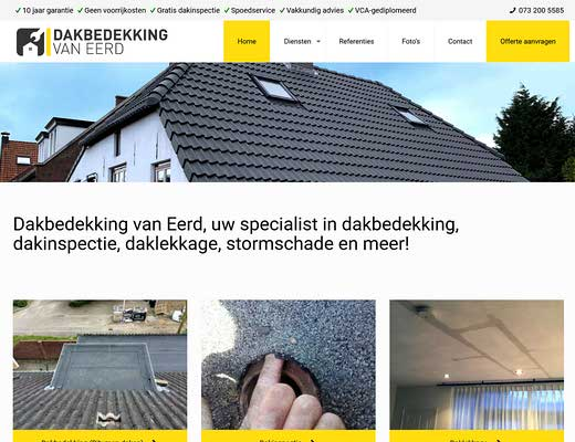 Dakbedekking van Eerd, Dakdekkersbedrijf Den Bosch
