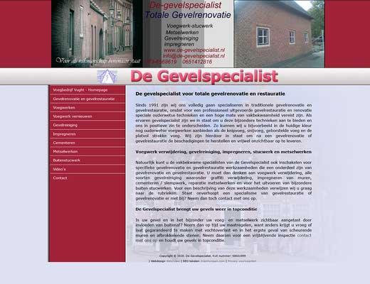 De Gevelspecialist V.O.F. voegwerken Vught Den Bosch Eindhoven