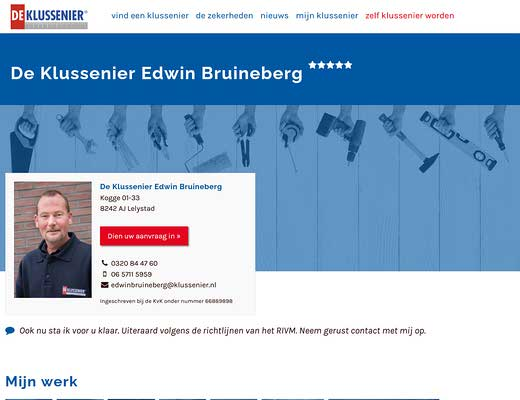 De Klussenier Edwin Bruineberg