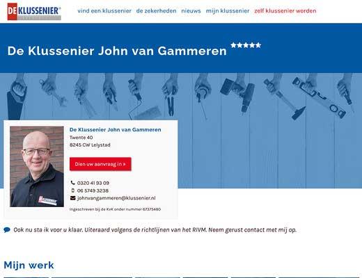 De Klussenier John van Gammeren