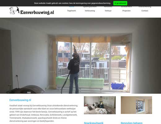 Eenverbouwing.nl Spackspuitbedrijf Spackspuiter Spackwerk Schildersbedrijf