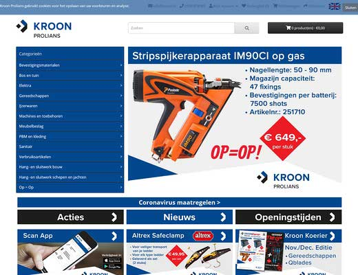 Kroon B.V. Coevorden - Technische Groothandel