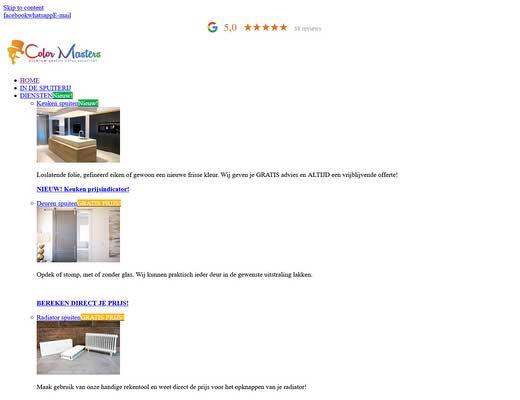 Spuiterij Color Masters - voor o.a. Keukens, meubels, radiatoren en binnendeuren