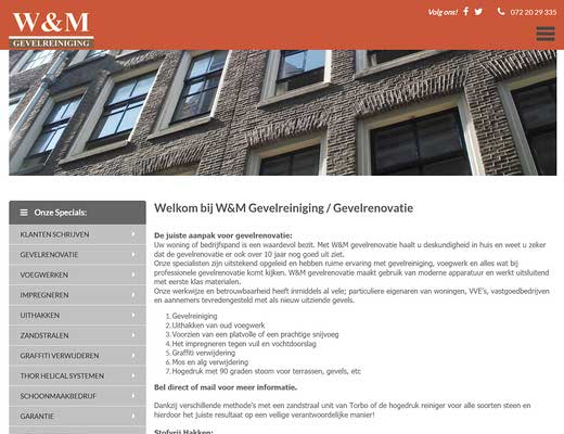 W&M Gevelreiniging | Gevelrenovatie Alkmaar